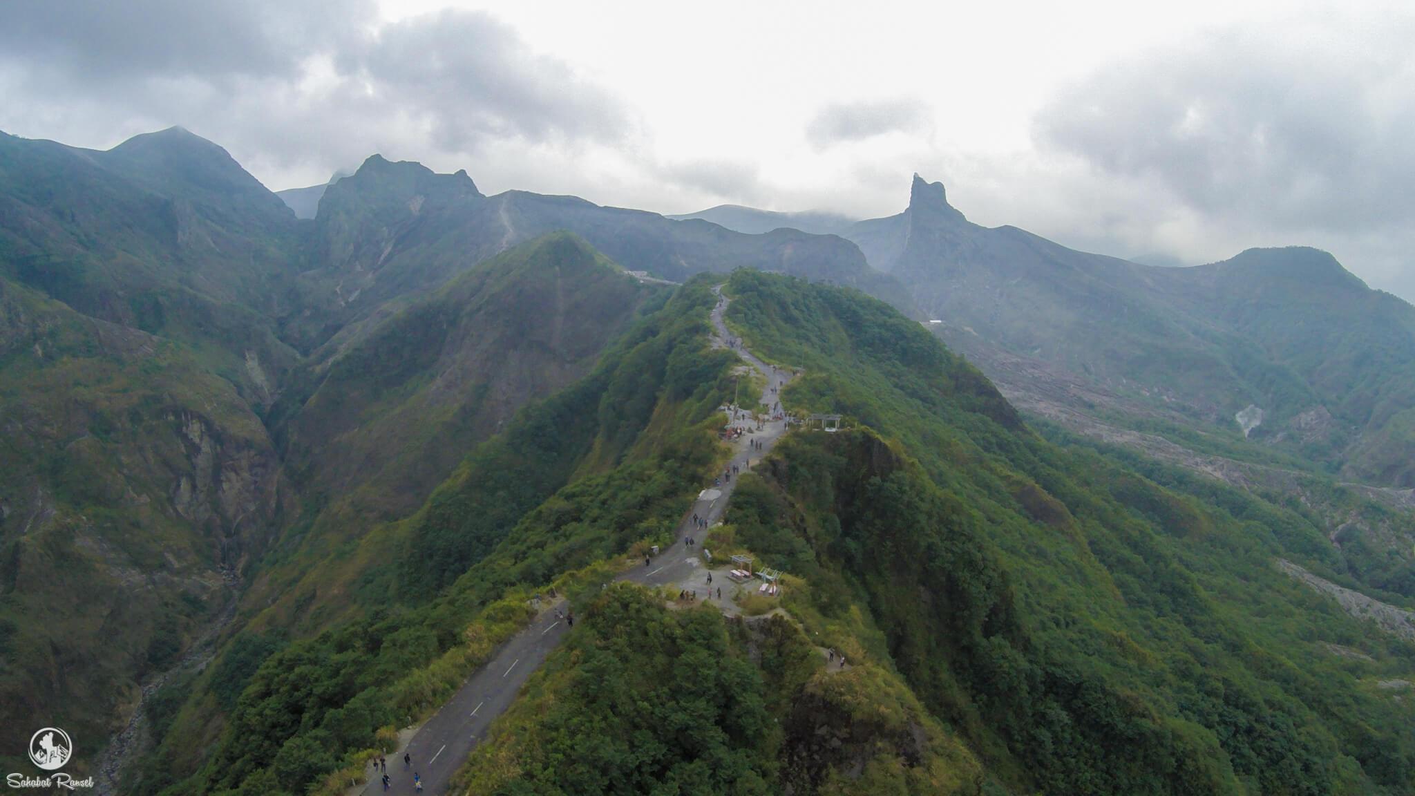 View dari udara, Wisata Gunung Kelud